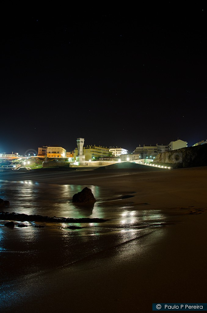 Night View of Santa Cruz Beach