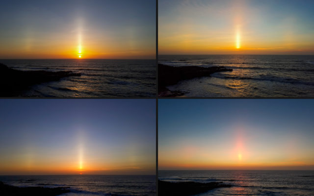 EPOD – June 14 – Sun Pillar Over Lourinhã, Portugal