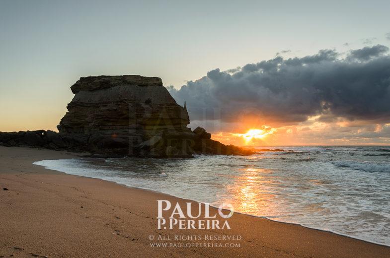 Sunset at Porto Novo Beach