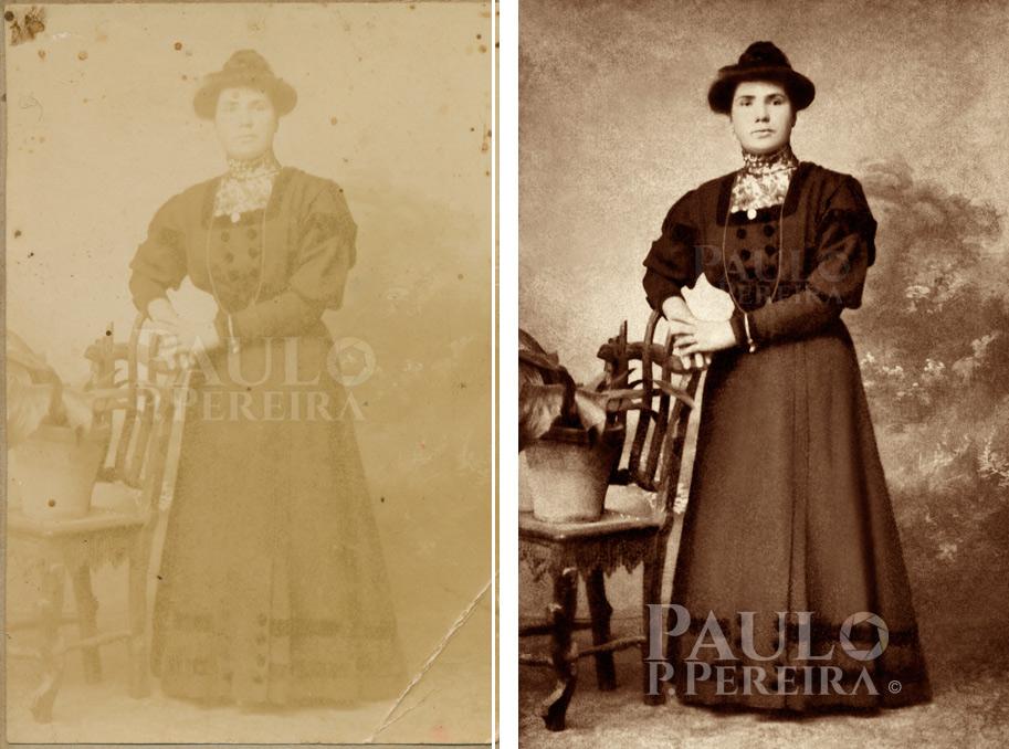 Restauro de fotografias antigas - Paulo P. Pereira