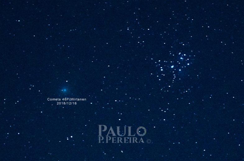 """Comet 46P/ Wirtanen – """"Ghostly Green Comet"""""""