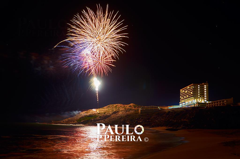 Fogo de artifício na Praia de Porto Novo
